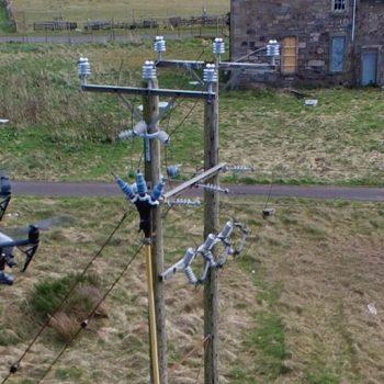 Pylon drone footage