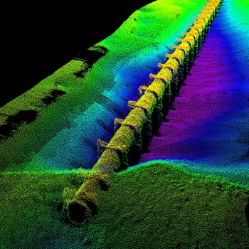 Scan of underwater pipe