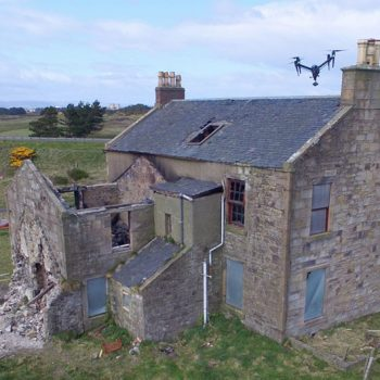 Old house Drone Footage