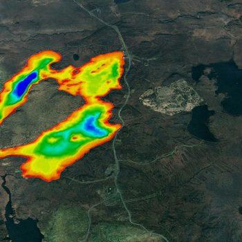 Scan of Stornawar Reservoir