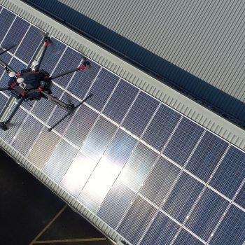 Drone footage Solar Panels