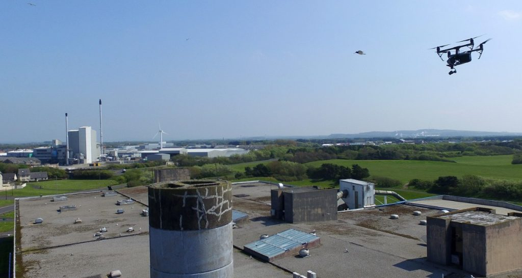 UAV Surveys - Chimney Closeup