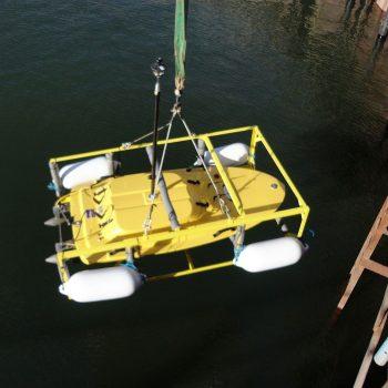 z-boat inside bridge caisson